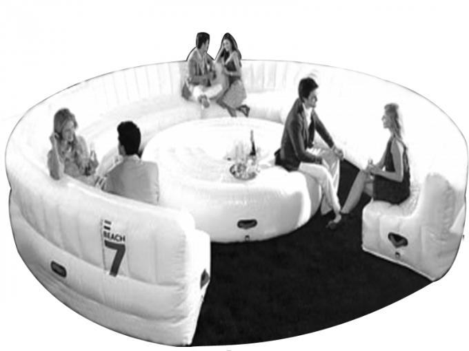 Large Red Design Advertising Inflatable Sofa Furniture , Inflatable Couch Furniture