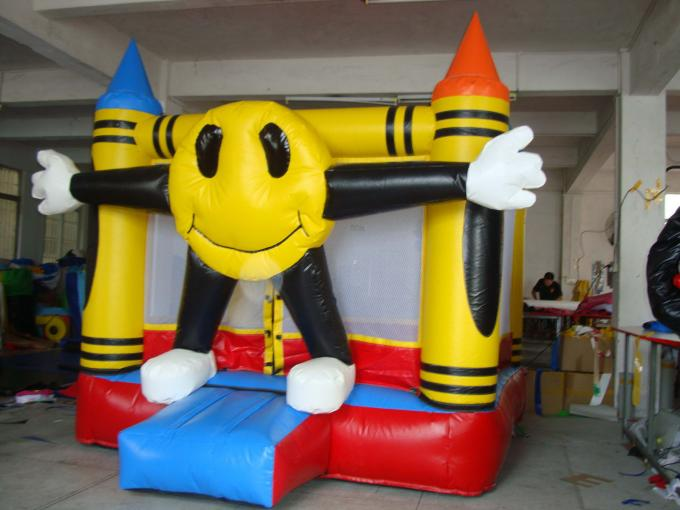 3.5ml Inflatable Amusement Park With Mini Dolphin For Entermainment