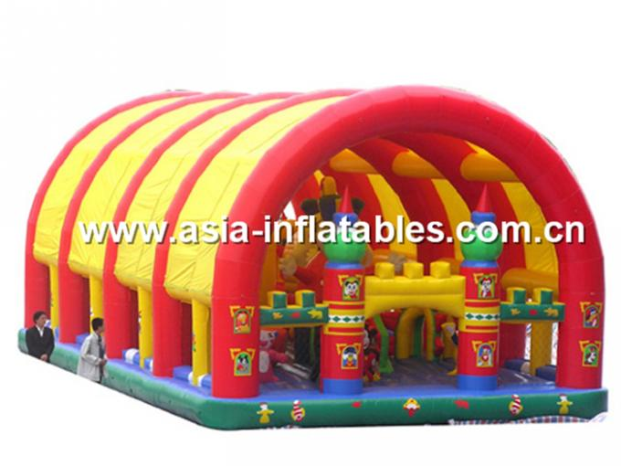 Inflatable Ship Playground With Cartoon Animals For Kids Amusement
