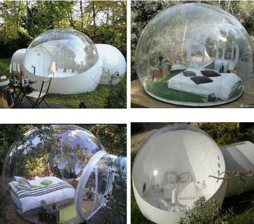 Custom Made Transparent Inflatable Bubble Tent on Water