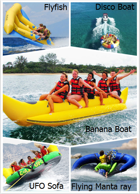 5 Person Towable Water Tubes Inflatable Crazy UFO Inflatable Sports Water Games