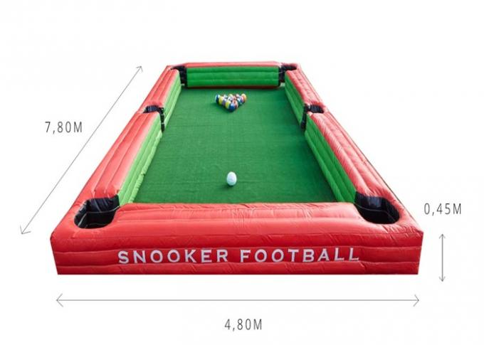 Custom Inflatable Snooker Ball Games Inflatable Billiards Table Sport Games