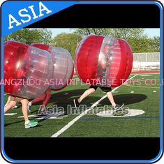 ประเทศจีน 100% PVC Inflatable Bumper Ball ,  Half Red Bubble Soccer , Loopy Balls , Soccer Bubble Balls โรงงาน