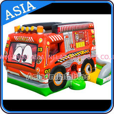 ประเทศจีน Outdoor Inflatable Cartoon Bus Jumping Castle For Children Party Games โรงงาน