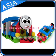 ประเทศจีน Commercial Inflatable Bouncer Choo Choo Train Bouncy House For Kids โรงงาน