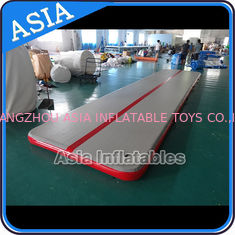 ประเทศจีน Sealed 10mL Gym Inflatable Tumble Air Mattress In Red and Gray โรงงาน