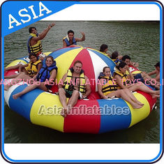 Fireproof 3m Inflatable Disco Boat With 8 Seats Pvc Inflatable Water Games