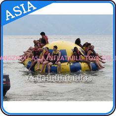 ประเทศจีน Hot Welding Yellow 12 Person Inflatable Disco Boat For Towable Water Games โรงงาน
