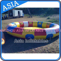 ประเทศจีน Waterproof 10 Person Round / Disc Inflatable Disco Boat Hot Welding With Blowers โรงงาน