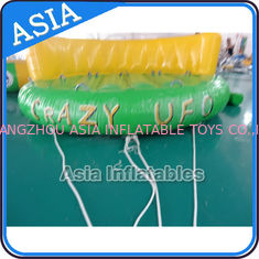 ประเทศจีน 5 Person Water Ski Tube Inflatable Boats Crazy UFO Shaped 0.9mm PVC Tarpaulin โรงงาน