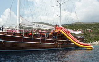 ประเทศจีน Cold Air Inflatable Water Sports, Inflatable Yacht Slide For Sale โรงงาน