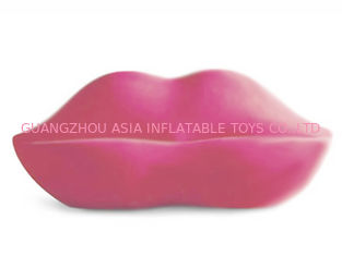 ประเทศจีน New Lip Shaped Design Inflatable Pink Couch Sofa With Two Seats For Relax โรงงาน
