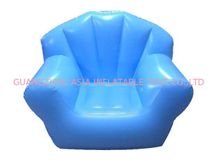 ประเทศจีน Comfortable Light Blue Pvc Tarpaulin Inflatable Chair Sofa For One People โรงงาน