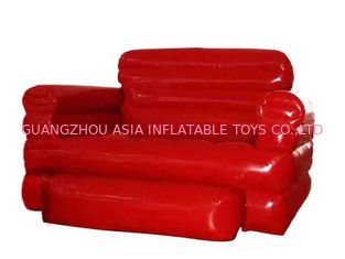 ประเทศจีน Home Red Pvc Tarpaulin Folded Inflatables Furniture Couch Sofa For Living Room โรงงาน