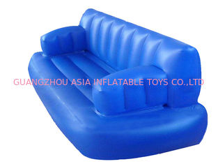 Water Floating Blue Inflatable Sofas And Couches For Sleeping With Commercial Quality
