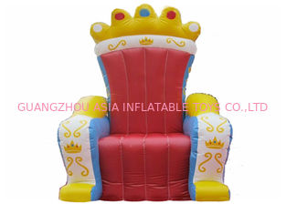 ประเทศจีน Hot Selling Replicas Inflatable Advertising King Sofa , Inflatable King Chair โรงงาน