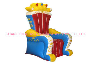 ประเทศจีน Ce Certificated Inflatable King Chair Sofa Furniture For Rental โรงงาน