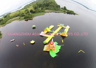 ประเทศจีน Floating Inflatable Water Games / Inflatable Aqua Park With Digital Printing โรงงาน