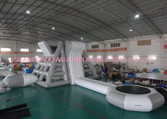 ประเทศจีน Amercian Customized Water Park Combo Inflatable , Inflatable Big Slide Park โรงงาน