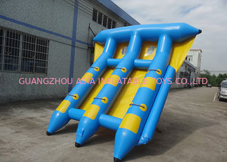 ประเทศจีน 4-6 Passangers InflatableTowable Sport Games/ Fly Fishing Boat Fish Raft Boat โรงงาน