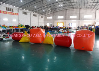 ประเทศจีน Triangle ,  Cube Shape and Cylinder shape of Inflatable Buoy On Sale For Water Games โรงงาน
