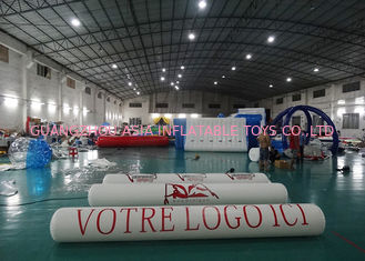 ประเทศจีน Inflatable Promoting Strip Buoy For Ocean Or Lake Advertising , Inflatable tube buoys โรงงาน