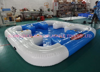 6 Person Floating Island , Inflatable Island Rafts For River and Ocean