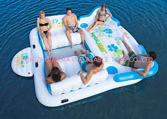 Large Inflatable Floating Island , Inflatable Lounge Water Floating Games For Leisure
