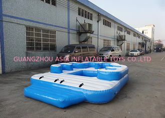 ประเทศจีน Entermainment 6 Person Inflatable Floating Island , Inflatable Shock Rocker โรงงาน