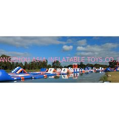 ประเทศจีน 1500D Waterproof 250 People Inflatable Wipeout Course With TUV Certificate โรงงาน