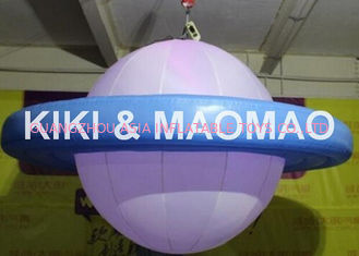 ประเทศจีน Inflatable UFO Saturn Helium Balloon , Custom PVC Advertising Character Balloon โรงงาน