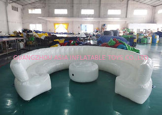 ประเทศจีน 12ft Diameter Round Shape Inflatable Sofa For Meeting With White Color โรงงาน