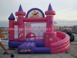 ประเทศจีน Pink Inflatable Amusement Park With Mini Princess Bouncer Castle With Slide โรงงาน