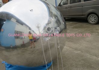 ประเทศจีน 2m Silver Helium Balloon And Blimps Stage Decoration Ball For Fashion Show โรงงาน