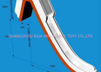 ประเทศจีน Giant Inflatable Water Slide , Inflatable Water Amusement Equipment, Yacht Slide โรงงาน