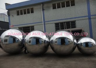 ประเทศจีน Advertising Mirror Helium Balloon And Silver Mirror Ball Inflatable For Party โรงงาน