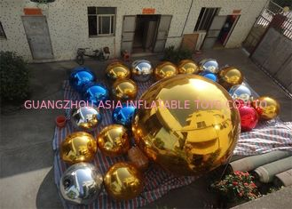 ประเทศจีน Inflatable Colorful Mirror Balloon Event Use Inflatable Ground Mirror Ball โรงงาน