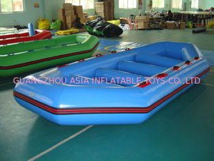 ประเทศจีน 3.2m Long PVC tarpaulin Blue Color Inflatable Boat for 8 Persons โรงงาน
