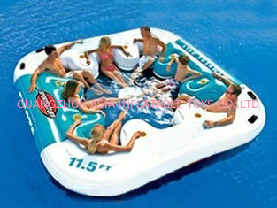 ประเทศจีน Water Proof Fiesta Inflatable Floating Island , Family Inflatable Boat โรงงาน