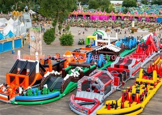 ประเทศจีน 3 years Guaranteed Adrenaline Rush Extreme Inflatable Obstacle Course โรงงาน