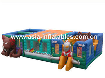 Ultraman Bouncy Castles, Inflatable Fair Ground / Fun City For Toddler Playland
