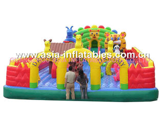 Commercial Use Inflatable Fun City With Inflatable Royal Palace Bouncy House
