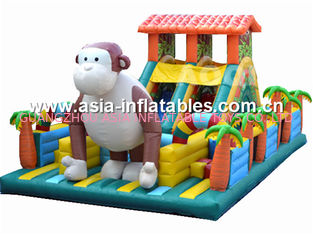 Inflatable Monkey Fun City / Inflatable Animal Funcity For Sale