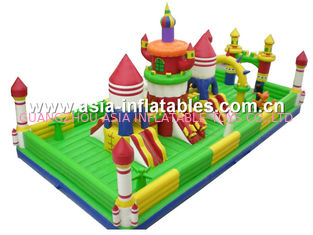 Giant Jungle Funcity / Inflatable Animal Fun City For Children Park Games