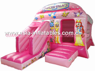 ประเทศจีน New inflatable princess pink bouncy castle/Commercial Inflatable combo โรงงาน