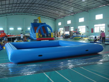 ประเทศจีน Customize Made Kids Inflatable Pool Water Park with Slide for Fun โรงงาน
