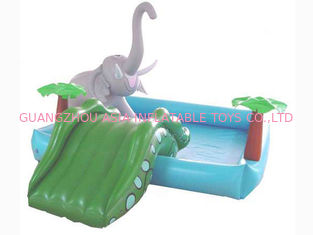 ประเทศจีน Small Water Park Kids Inflatable Pool with Animal for Backyard Play โรงงาน
