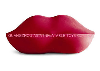 ประเทศจีน Light Weight 0.6mm Pvc Tarpaulin  Inflatable Chair Sofa With Red And White Color โรงงาน
