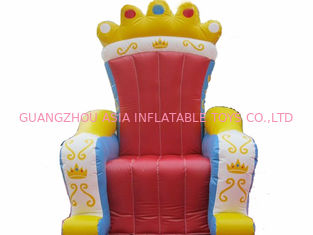 ประเทศจีน Chinese Supplier Advertising Inflatable King Chair Sofa For Chair Furniture Exhibition โรงงาน