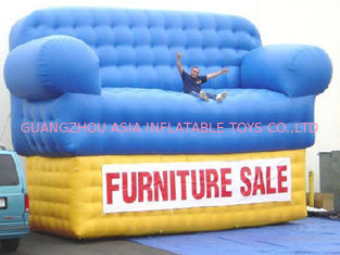 ประเทศจีน Blue Advertising Inflatables Couch Sofa Manufacturer With Wholesale Price โรงงาน